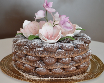 Naked cake de brownie